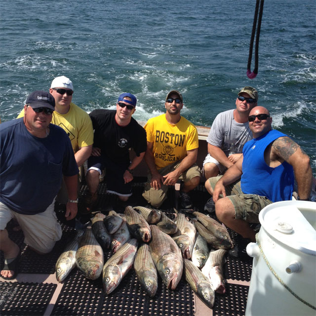 Fising for Stripers - Boston aboard Fish Tales